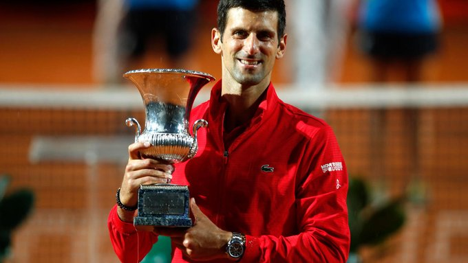 #Djokovic wins in #Rome to claim record 36th Masters title  #RomeMasters https://t.co/Y7L1X5IG9d