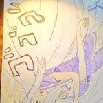 Image for the Tweet beginning: ども。 #俺の彼女と幼なじみが修羅場すぎる  #アニメ #イラスト好きな人と繋がりたい  #色鉛筆画  最近描いたやつっすよw