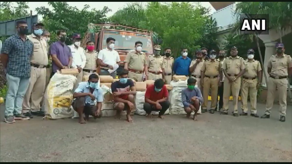 Maharashtra: Pune Rural Police arrested four persons and recovered 312 kgs of cannabis worth Rs 46 lakhs from their possession in Baramati, yesterday. https://t.co/r5kWjaDsPZ