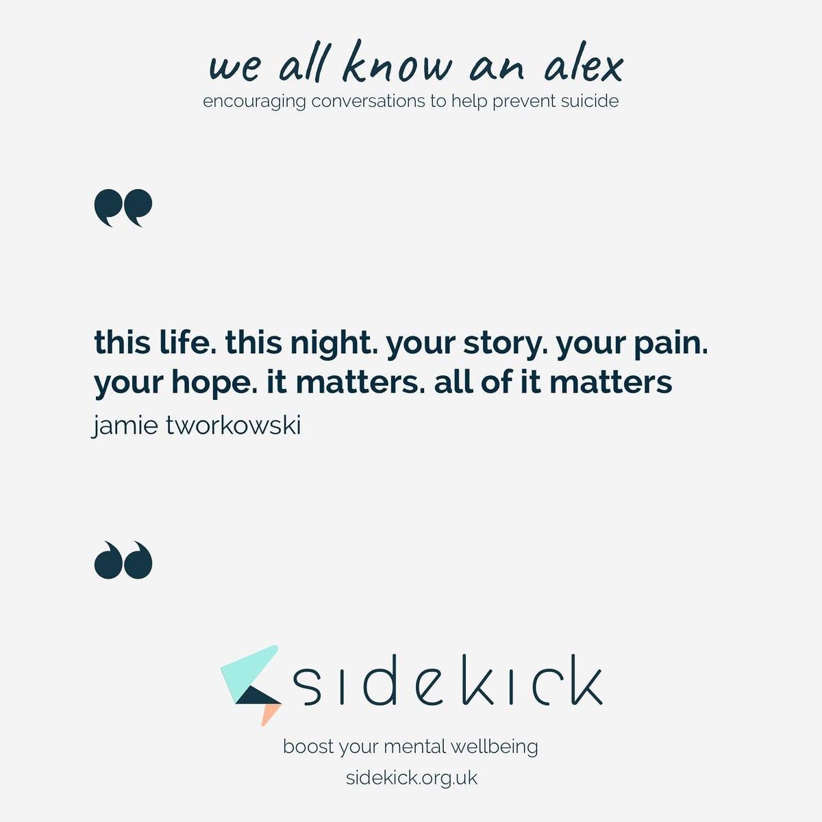 you really do matter!   #SuicidePrevention #depression#depressionawareness#depressionhelp#anxiety#anxietyawareness#endthestigma#yourenotalone#supportsaveslives#mentalhealthawareness#mentalhealth#ptsd#trauma#mentalillness#bipolar#WeAllKnowAnAlex https://t.co/1v0efjlYE0