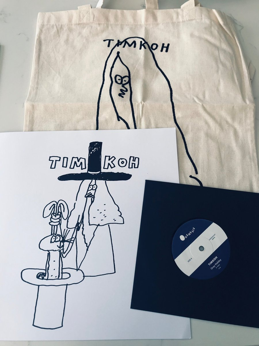 Tim Koh @lamaraba @dinkededition available @PiccadillyRecs @Monorail_Music @normanrecords @residentmusic and lots of other super hip record shops. It's a really nice record i love it so much I released it on OGenesis. Just saying ;)