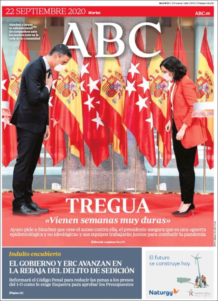 ABC  https://t.co/SYVydJoM19 #r2p #ABC #UE #Europe #USA #Espana #PedroSanchez #Obama #Biden #Trump #Spain #Espagne #Coronavirus #Covid19 #NicolasMaduro #Ibex35 #FelipeVI #CorinnaLarsen #JuanCarlos #Lebanon #Beirut #Sofia #Podemos #KamalaHarris #Putin #Maduro #IsabelDiazAyuso https://t.co/PEOSTInRk3