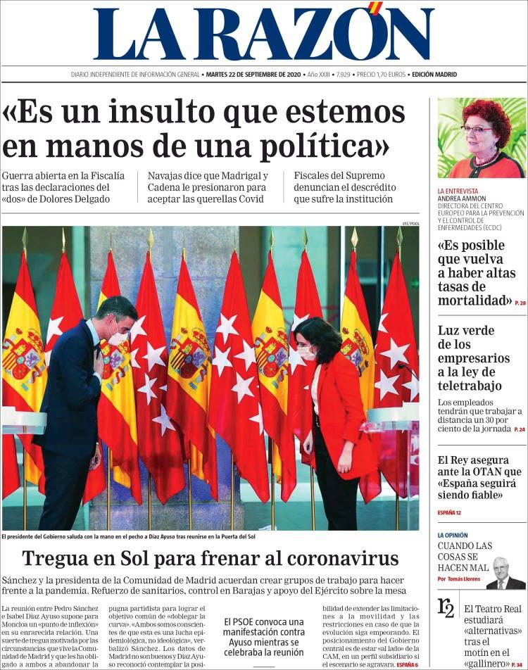 LA RAZON https://t.co/eYE9FiKzT7 #r2p #LaRazon #Razon #Spain #Espana #Espagne #Coronavirus #USA #UE #Europe #Obama #Biden #Trump #Covid19 #PedroSanchez #Ibex35 #Euro #FelipeVI #JuanCarlos #CorinnaLarsen #Sofia #Beirut #Lebanon #Podemos #Messi #IsabelDiazAyuso https://t.co/evVRlc61GO