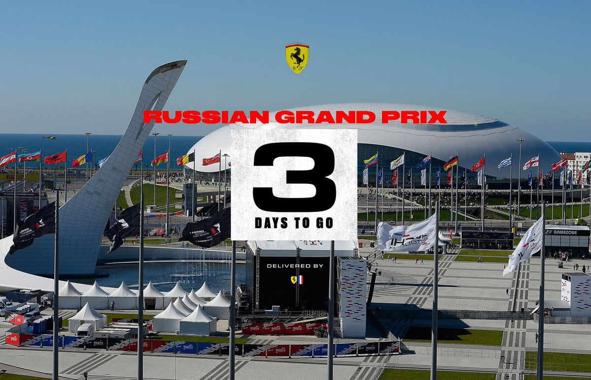 Hello #Tifosi 👋  Plus que 3 jours avant le début du week-end #RussianGP🇷🇺  #essereFerrari 🔴#SFF 🇨🇵 @F1FerrariFrance https://t.co/6C4D5jD1FJ