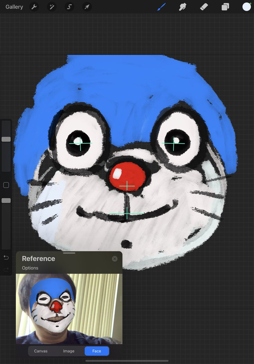 #Procreate5X #Doraemon #Facepainting #Facepaint #iPadPro Before long maybe we can paint 🎨 3D model using Procreate 😃 maybe in tandem with Nomad Sculpt. https://t.co/CQX78CtngZ