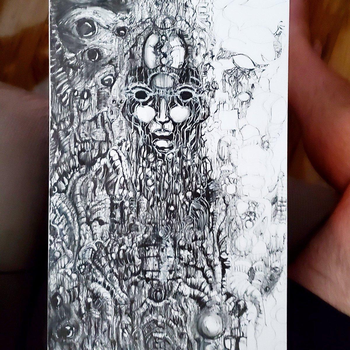 Day 3 and filling details 11x17 freehand pen and ink #wip #drawing #art #artwork #ArtistOnTwitter #illustration #otherworldly #surreal #darksurrealism #macabre #gothic  #originalart #penandink #darkart #darkartwork https://t.co/foHJgRFLkG