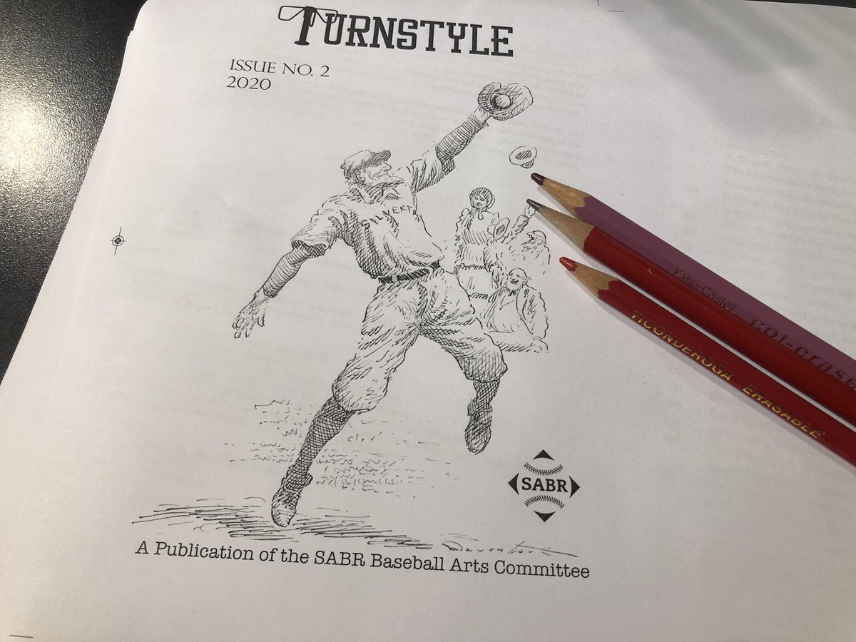 Listening to the Yankees get wallpapered tonight by the Jays, but giving a final proofing pass to the upcoming @sabr arts journal to lift my spirits https://t.co/k1aX1DalIM