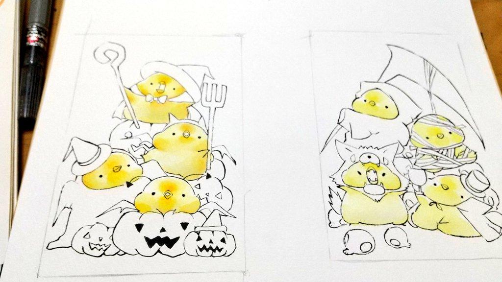 塗っていく~ #Halloween展 https://t.co/OXur72CSwa