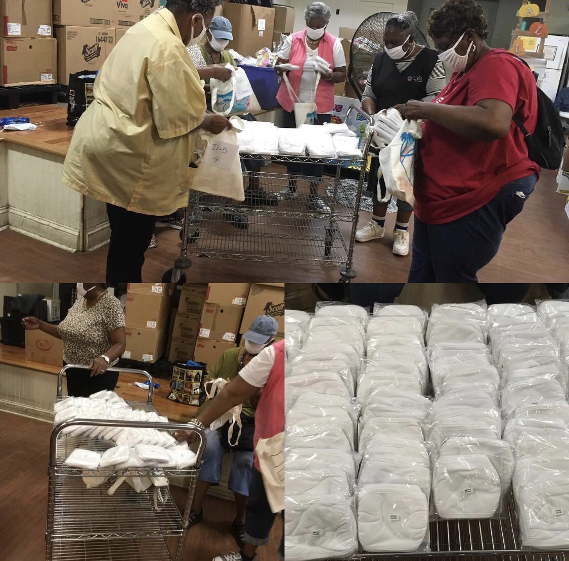 SWEEAC received 2,000 face mask to share with our grocery home delivery families and our volunteers courtesy of @sockfancy.  🙏🙏🙏The mask are in great shape, washable and a product of @Hanes.  #Covid_19 #atlanta #nonprofit #MakeADifference #thankyou https://t.co/g1f0pCv1tt