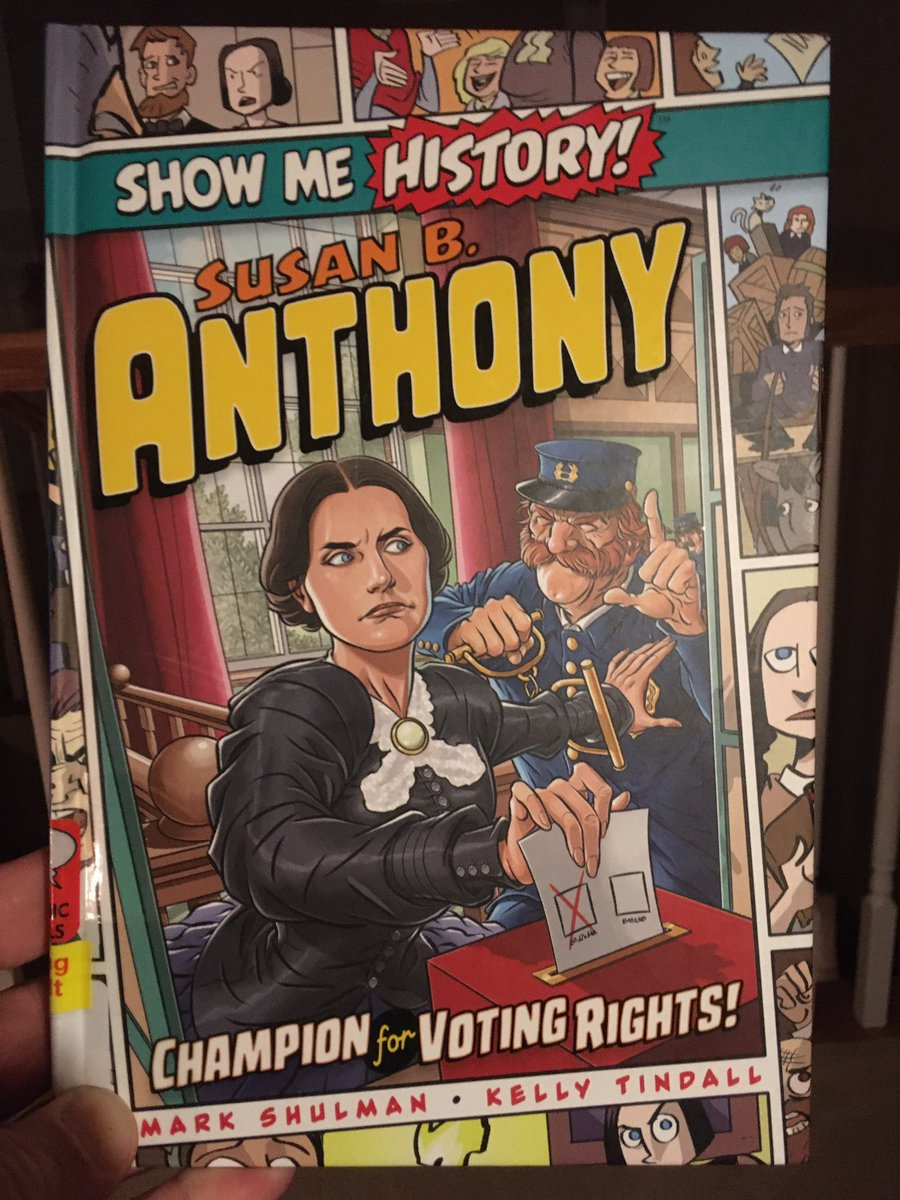 @PortablePress's Show Me History #GraphicNovel series is great! Really loved reading & learning about #SusanBAnthony & her fight for #equality. Tremendous detail & historical context. Definitely recommend! #sschat #teachingwithcomics #historyteacher #educomics #WomensRights https://t.co/4pUcunKckI