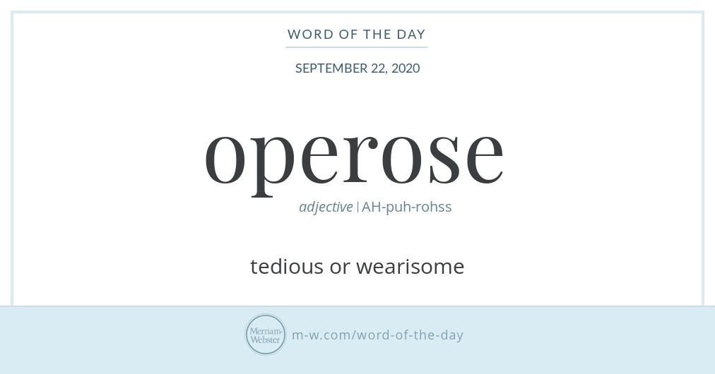 Hello! Today's #WordOfTheDay is 'operose' https://t.co/pQhzJz523O https://t.co/ka41Wn1c9p