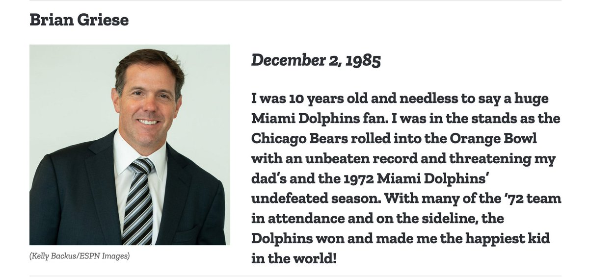 #MNF analyst @briangriese looks back at his time as a young @MiamiDolphins fan  https://t.co/xfw2MtTS1K https://t.co/x3mV6TYzZR