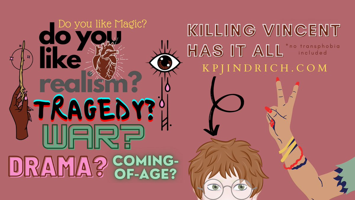 Killing Vincent has it all. No transphobia included.  #KillingVincentBook #magicalrealism #Novel #KPJindrich #disabled #lgbtqia #author #inclusivity #Diversity  Visit https://t.co/yw8TWIdVpY for more info. https://t.co/1AjEam3soR