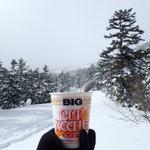 Image for the Tweet beginning: 登山で食べたカップヌードルをプレイバック 92杯目  冬の乗鞍岳で食べたカップヌードル。(2017年12月9日)  山カップヌードルアルバム →   #カップヌードル #カップラーメン #登山  #日清