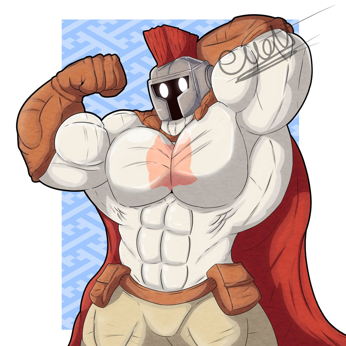 comission for @ianpep_taiko (muscular knight) <3