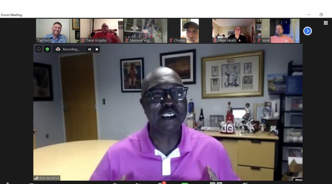 We were honored to have Bob Kendrick (@nlbmprez), president of the Negro Leagues Baseball Museum (@NLBMuseumKC) join us tonight for our Dusty Baker - Sacramento & Lefty O'Doul - SF Bay Area @sabr meeting! He was great! The video will be posted within a few days! https://t.co/C0TxbYmDr4