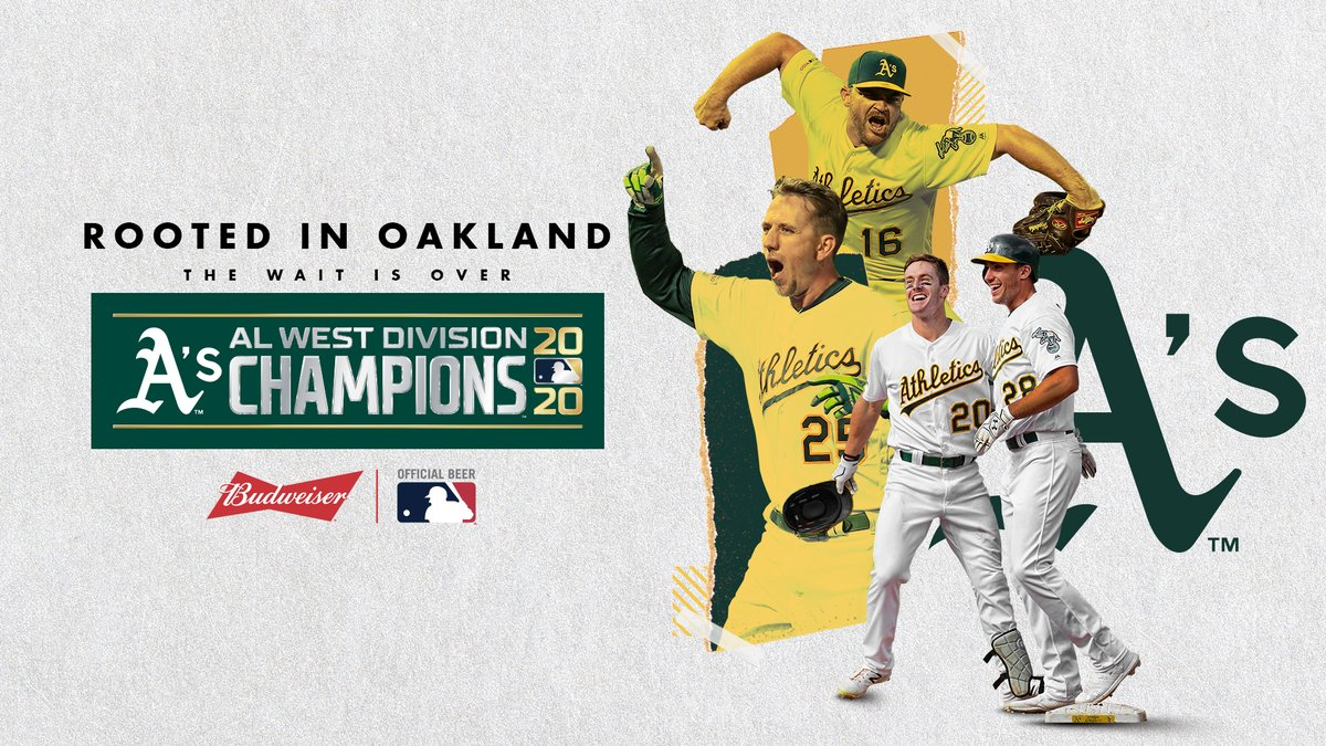 For the first time since 2013, the @Athletics have won the AL West. #CLINCHED https://t.co/FNloPfMdl1