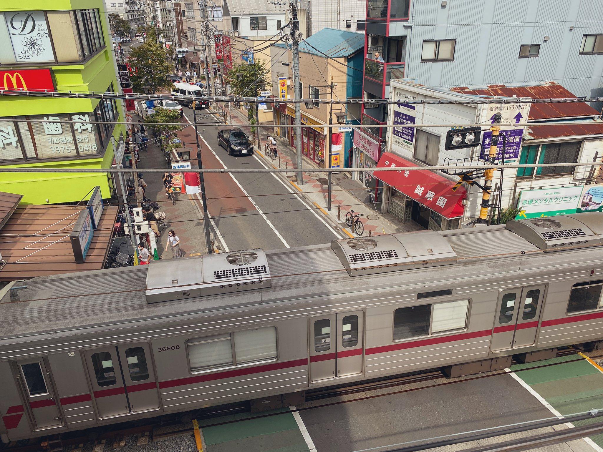 下赤塚駅で人身事故の現場画像