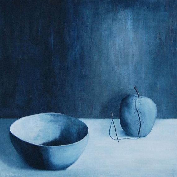 Surreal Apple Still Life  Blue https://t.co/UDXyXM1PfT #surreal painting #blue art https://t.co/QloLaTmMp2