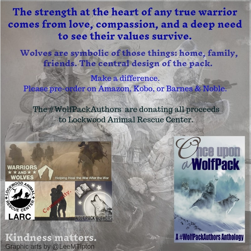 Once Upon a WolfPack is an #anthology, wolf-themed #stories & #poems donated by #WolfPackAuthors. Profits go to Wolves & Warriors Program @ https://t.co/vuTXIMZlia.   I wrote _Omega Road_.  https://t.co/okZy5T2PY0 #charity #wolves #anthology #books #shortstories #OmegaRoad https://t.co/XNuGGNnfJU