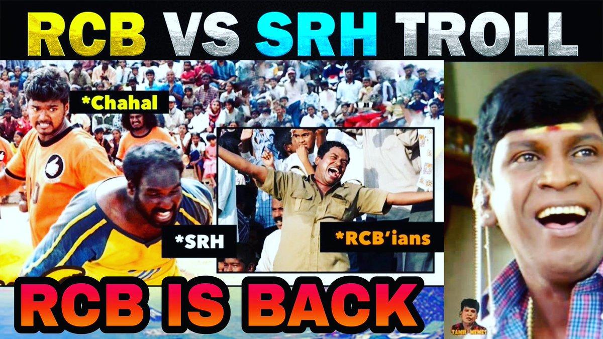 https://t.co/djQF8brrMS  Rcb vs srh troll #RCB  #rcbs  #SRHvRCB  #rcbvssrh  #Kohli #ABDevilliers #Warner #DavidWarner #ViratKohli #Chahal #Marsh  #UmeshYadav #baistrow  #saini #RashidKhan #vijayshankar #pandey #Morris #Finch  #IPL2020 #IPL #IPLinUAE  #Dream11IPL2020  @ChennaiIPL https://t.co/St5N9bHuEa