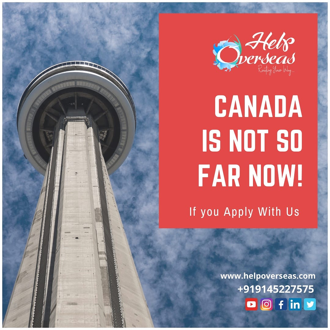 Canada is not so far now! If you apply with us.  Contact #helpoverseas to reach your dream destination!  Call on +91 9145227575 #Canada #canadaimmigration #economicgrowth #brightfuture #dreamcountry #princanada #crsupdates #ExpressEntry #ircc #pnp #PRVisa #CRS #pnp #cic #cicnews https://t.co/bPB0hZYdkP