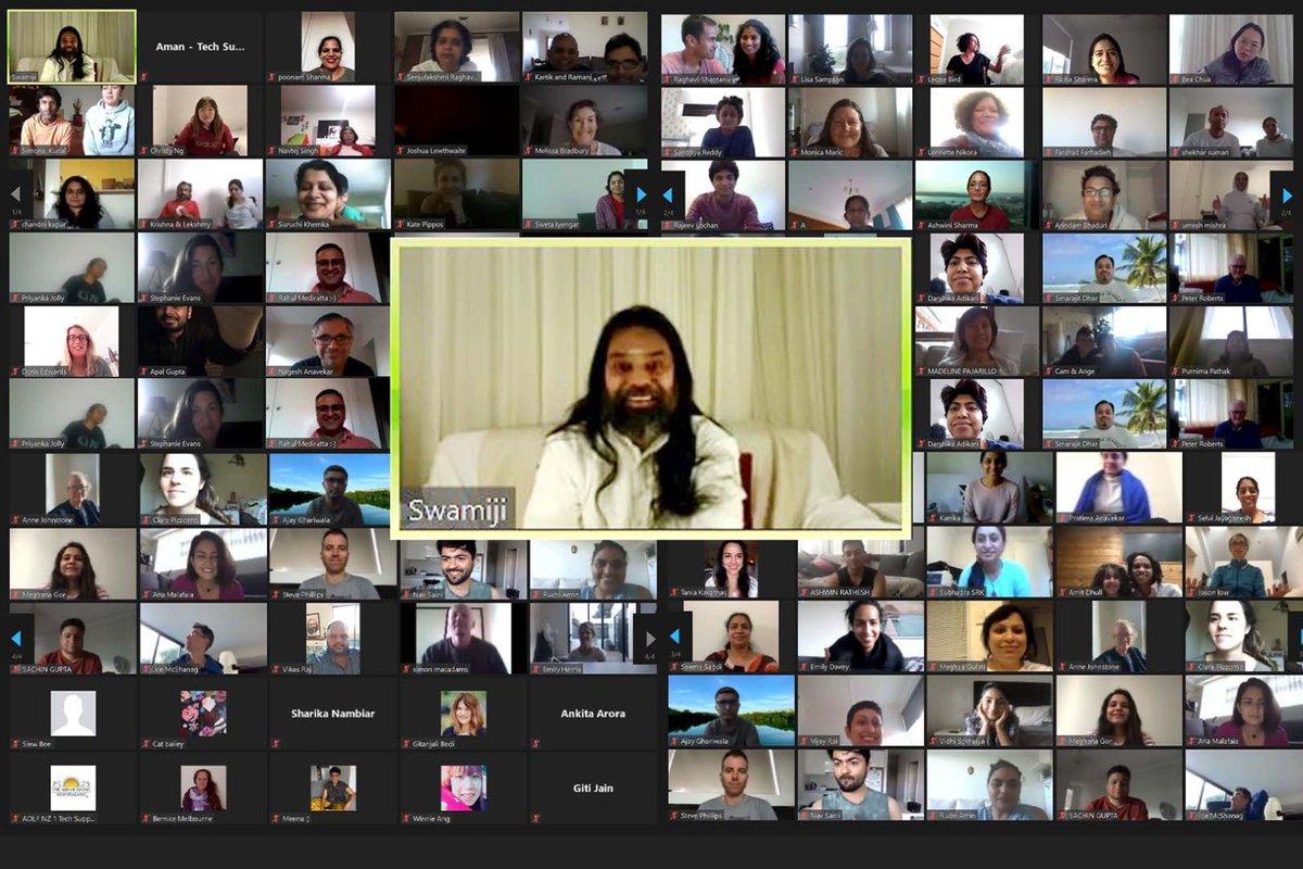 13 th Online @ArtofLiving Advanced Meditation Programme concluded on Sunday . #ArtOfSilence #meditation (@SriSri ) https://t.co/0vCdBK4EQd