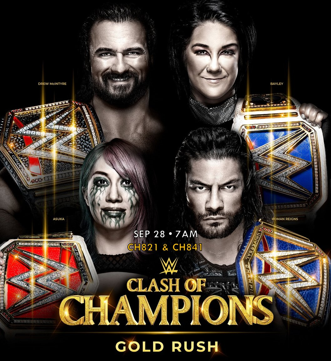 All @WWESEAsia championships across the Raw and SmackDown brands will be put on the line! #ClashOfChampions  Subscribe to #WWENetwork via CH200 today. https://t.co/vu5EBvQUDF