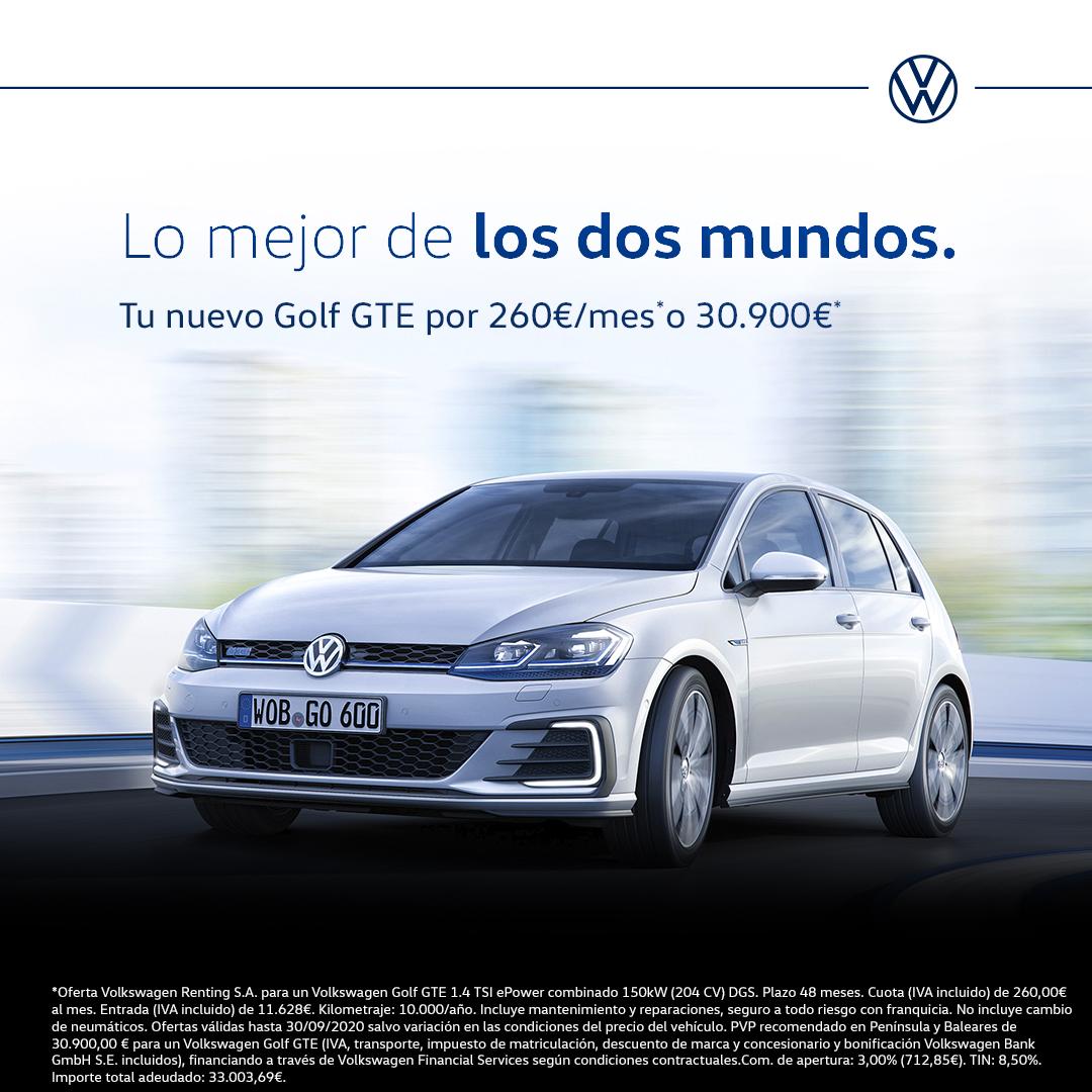 Te gusta conducir, pero quieres dejar la menor huella posible en los caminos que recorres. 👣 ¿Buscas emoción y además la máxima eficiencia? Tenemos un Volkswagen para ti⚡️  Pide hoy tu oferta ➡️ https://t.co/OZ2PnPjvdl  #Volkswagen #VW #GTE #eléctricos #VWMadrid https://t.co/CKrLk8KEtX