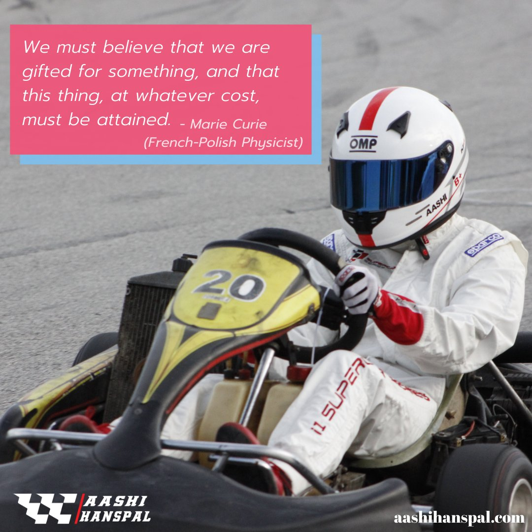 We all are gifted with extraordinary abilities. Start your journey towards success from now.  #Aashi #AashiHanspal #YoungKartRacer #RisingStars #GirlsonTrack #FIAWIM #FIAWomenInMotorsport #Pirelli #PirelliSport #Winfield #PragaKart #PaulRicard https://t.co/FROxpPqa3R