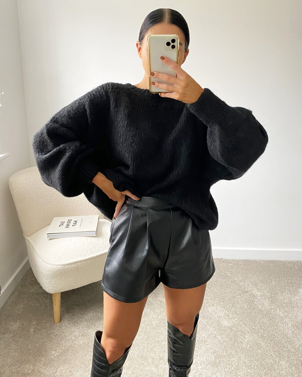 Image for The perf oversized jumper 📸  Shop the freja jumper seen on @lauren_bakewell 🛒  Online now 👉🏽 https://t.co/5y08kiUfWH https://t.co/Q6ITO3tcgQ