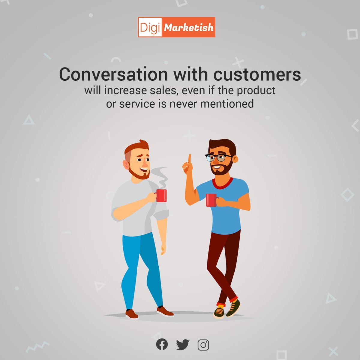 #Key feature of an offline store still stands to be the human #interaction. What if we told you, you too can #bring the same on a Digital Platform?  Social Media Marketing does just that. At #DigiMarketish we believe that a #conversation can lead to sales . https://t.co/ErH63vBEuZ