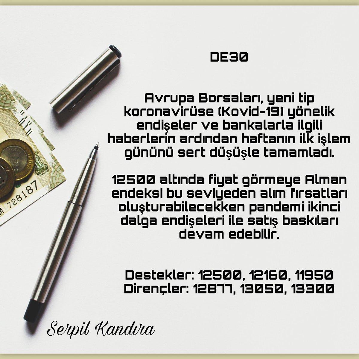 DE 30   #forex #fx #forextrader #yatırım #borsa #brent #DAX30 #para #bist #altın #gbpusd #parite #rt #fav https://t.co/1Mp0pHGclA