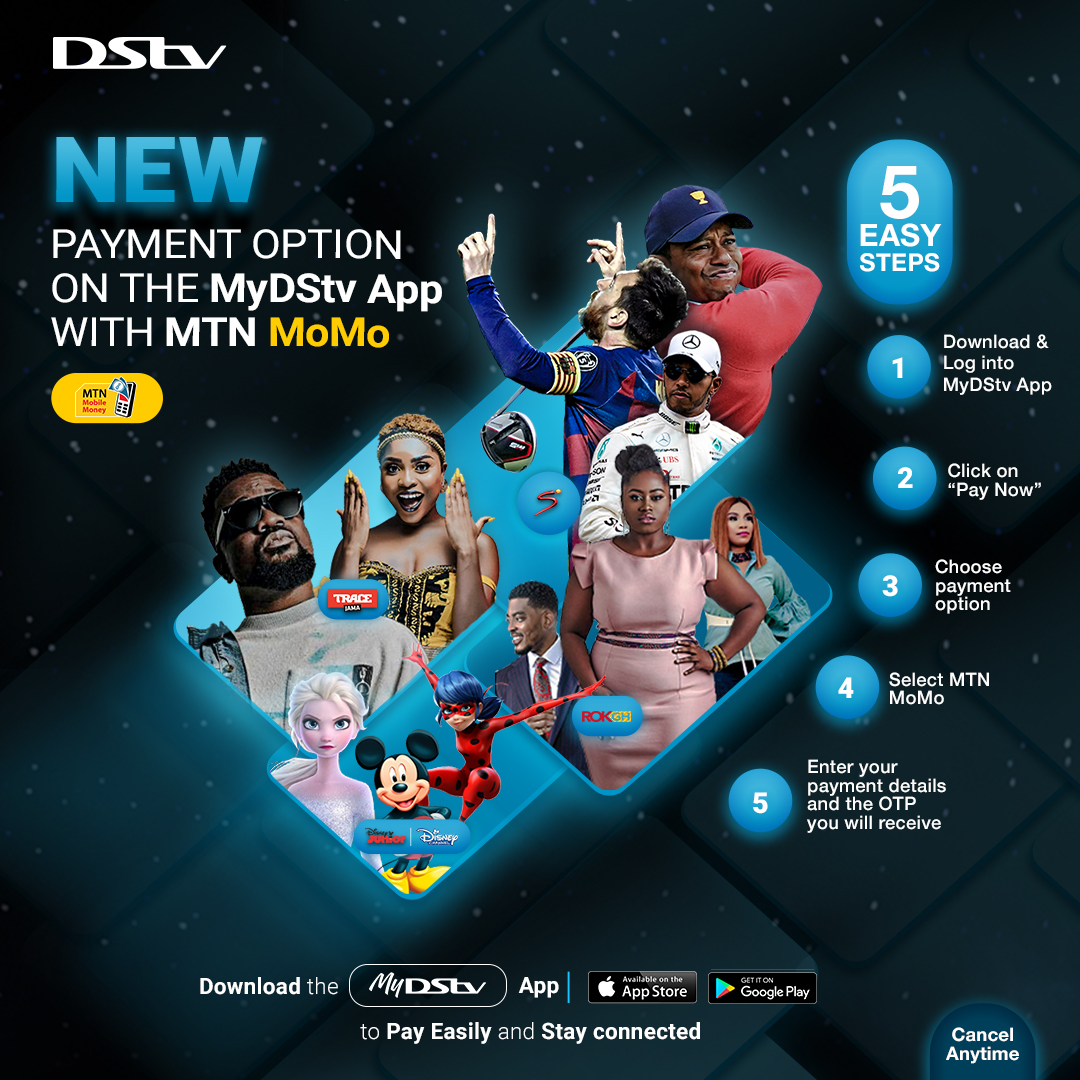 Download the MyDStv app and have the power to make fast and reliable payment of your DStv account with MTN MoMo anytime, anywhere. Just follow these steps on how to pay. The power is in your hand! https://t.co/2cR7FQpyAZ