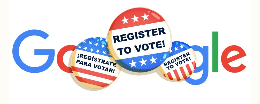 It's US #NationalVoterRegistrationDay.   Clicking today's #GoogleDoodle leads to a tool with info to help you register in your state & get basic voter information ahead of the election on November 3rd → https://t.co/aAoI8HejLm https://t.co/OfS1J2lRaO