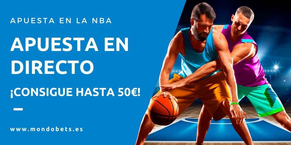 🏀 NBA 🚨 No te pierdas la promo 💰 ¡Hasta 50€ apostando en directo!  T&C 👉https://t.co/0Kj7dmYDf3 #baloncesto #apuestas #apuestasdeportivas #deportes #NBA https://t.co/l0SWwIslKz