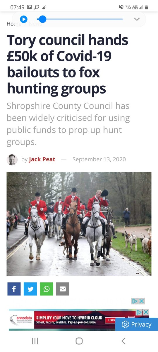 @UKLabour @AnnelieseDodds Tories are funding fox hunting groups. Why isnt Labour stopping it?