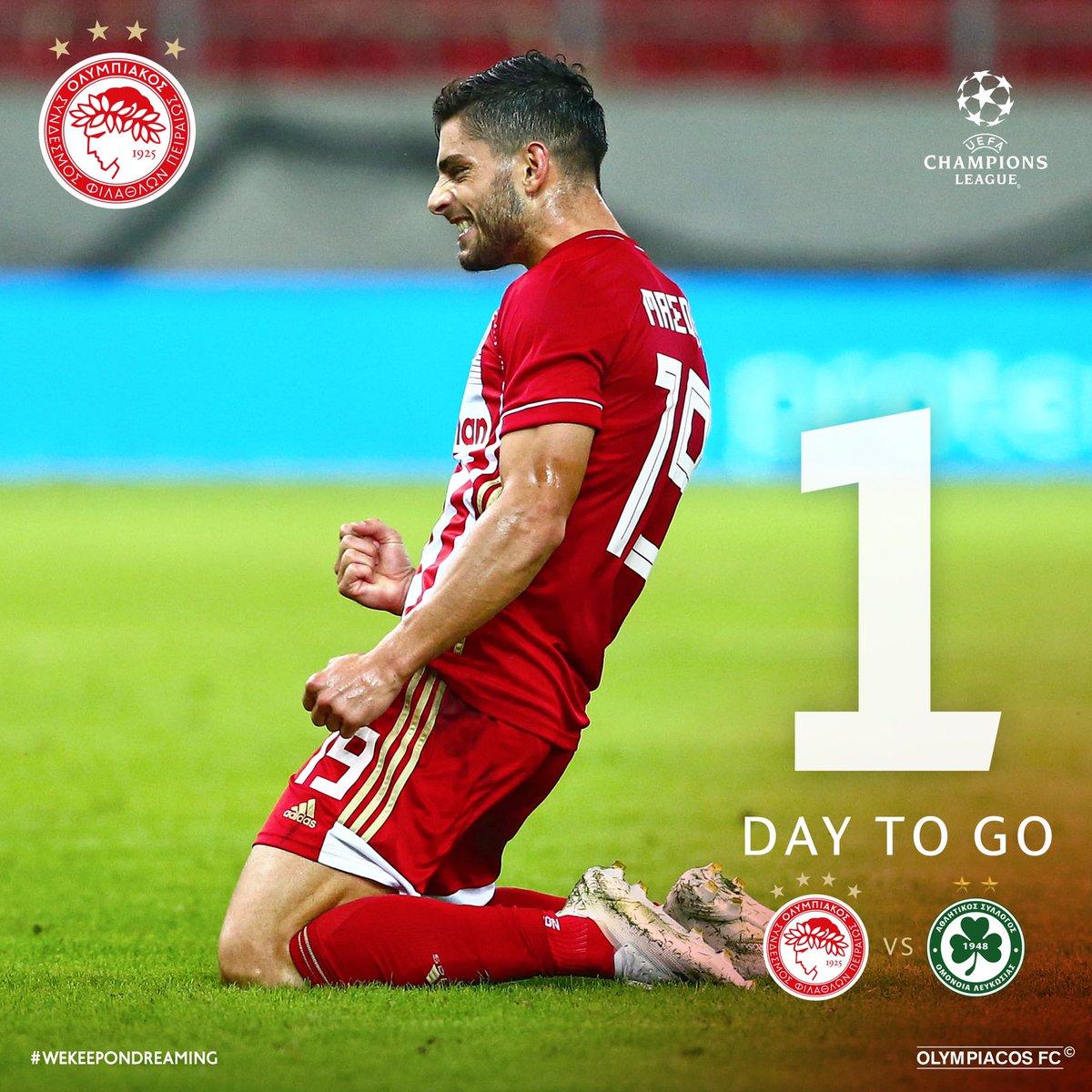 🔴⚪👊🏻 #Olympiacos #UCL #OLYOMO #Countdown #1day #Masouras @ChampionsLeague @OMONOIAfootball https://t.co/txwUSvv5gM