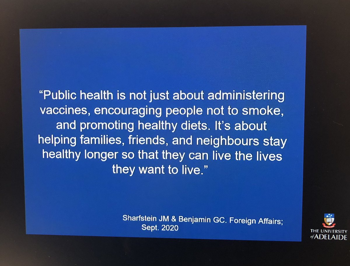 Such an important quote from today's @HDA_SA 16th Annual Oration by Prof Michael Sawyer.   Valuable lecture on how it's everyone's responsibility to take up to the public health challenge of supporting child & adolescent #mentalhealth in Australia today. https://t.co/GYhrKOpJZW