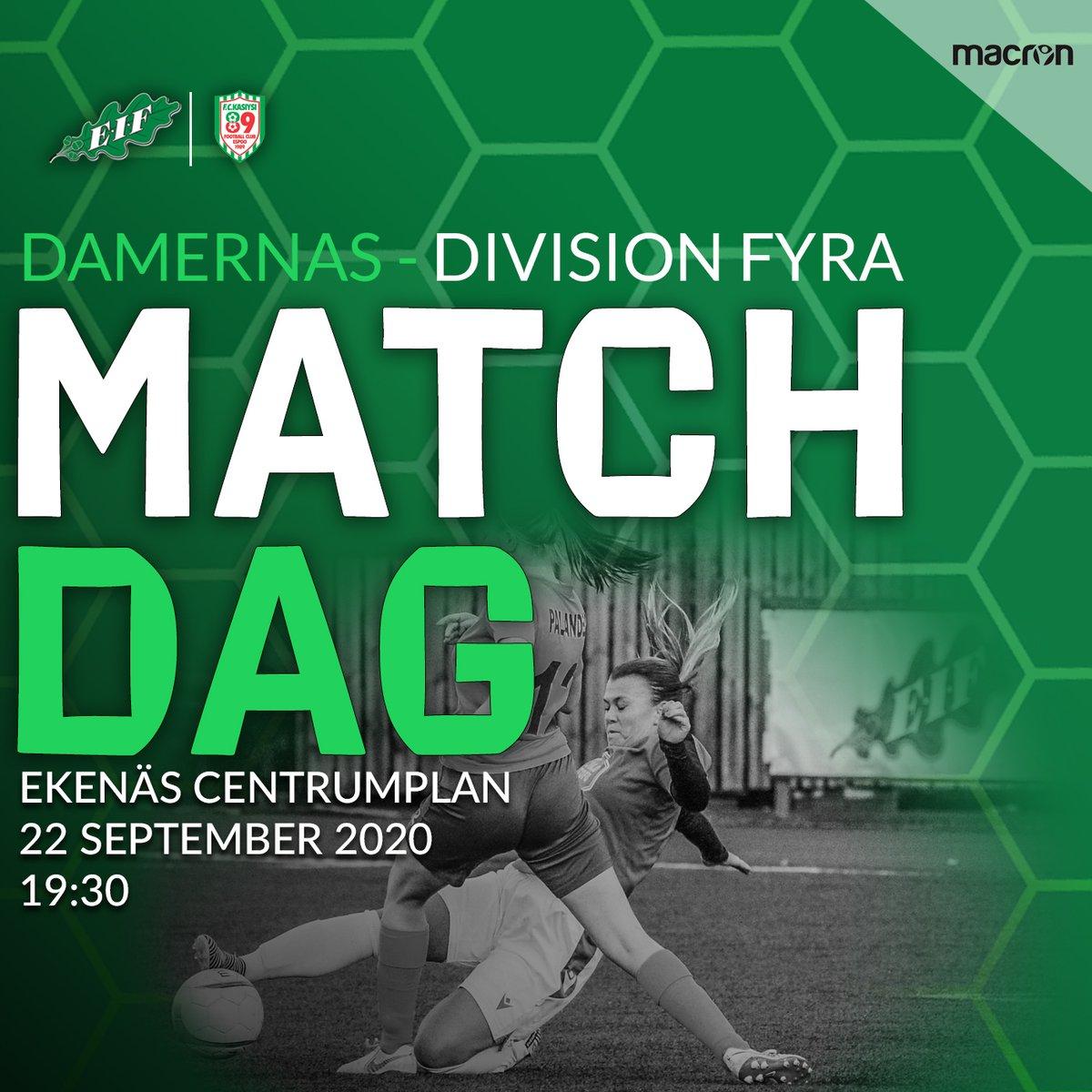 Idag är det dammatch, avspark 19:30 på Ekenäs centrumplan, välkomna! https://t.co/fA56OtwkPY