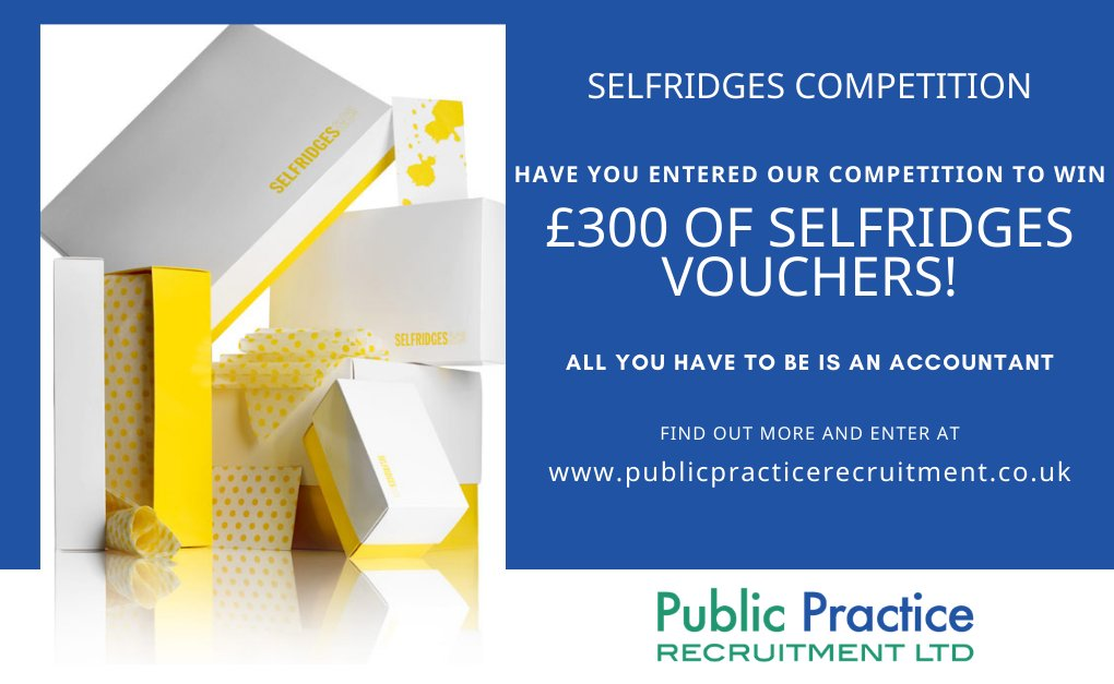 We're always looking for ways to let brilliant accountants know they are appreciated. This quarter we're giving one lucky accountant the chance to spoil themselves guilt free with £300 of vouchers to spend at the amazing department store, @Selfridges !   #accountancy https://t.co/MxWbcUxCpd