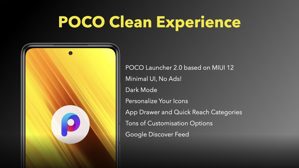 Providing & keeping #POCO's clean experience intact, the #POCOX3 comes with: -POCO Launcher 2.0 based on MIUI 12 -Minimal UI, No Ads! -Dark Mode -Personalize Your Icons -App Drawer and Quick Reach Categories -Tons of Customisation Options -Google Discover Feed  #SmoothAF https://t.co/JMnuwi8ku6
