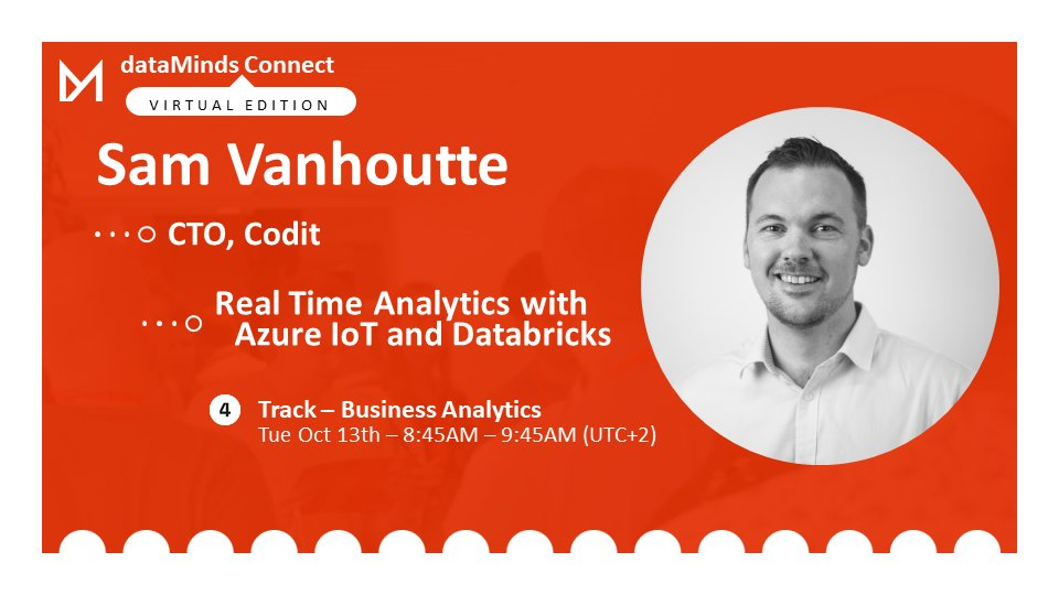 #RealTime #Analytics for #IoT devices is big, as new devices emerge. @SamVanhoutte explains an entire architecture to handle this #data using the #Azure #DataPlatform at #dataMindsConnect.  🕘Tuesday October 13th @ 8:45AM UTC+2 ℹ Info & Registration🎫➡ https://t.co/huk5euTCLj https://t.co/aZQwDbu9xU