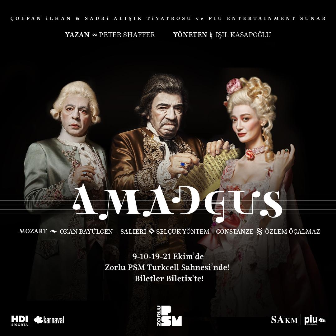 Mozart ve Salieri'nin hayatına sahneye taşıyan müzikli oyun Amadeus, Okan Bayülgen ve Selçuk Yöntem'in oyunculuğuyla sahnede! Zorlu PSM'de gerçekleşecek gösterimleri kaçırmamak için biletinizi şimdiden alın. https://t.co/COPoV8cIOL https://t.co/l0FUPlYzwZ