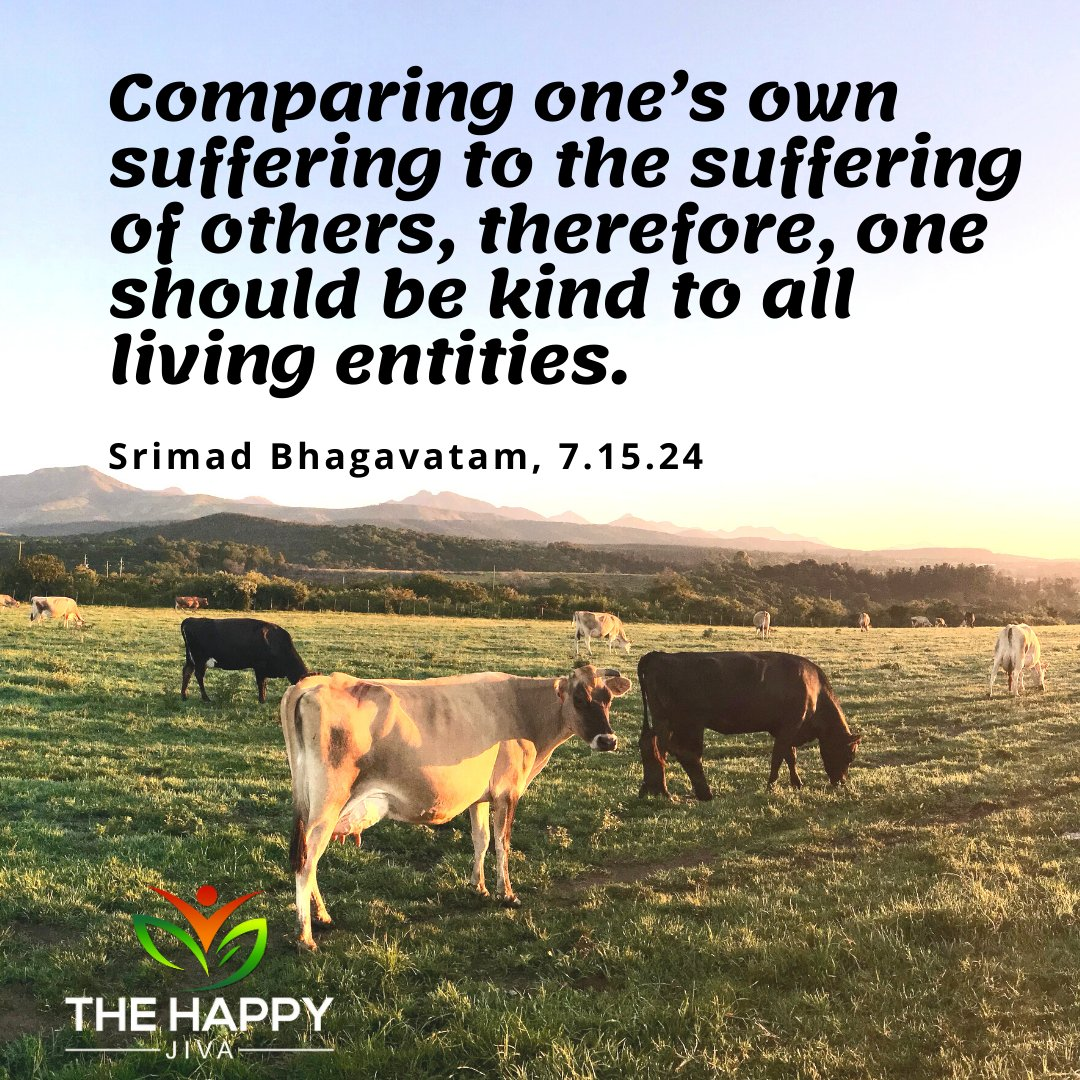 Treating others as one would treat themselves. #healthyliving #happyjiva #beahappyjiva #yoga #meditation #mindfulness #mindset #MotherNature #knowledge #Spirituality #bodymindsoul #nature #compassion #AnimalRights #yoga https://t.co/KdMcsJK1wJ