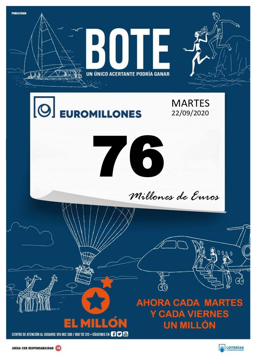 Botes para hoy!! Pots per avui!! https://t.co/NailfbHM19 @DcMillonario #EspaiGirones #Bonoloto #EuroMillones #ElMillon #loterias #sorteo #Botes #apuestas #suerte #Sorteos #loteriasyapuestas #premios #loteria #Bonoloto #EuroMillones #ElMillon #LoteriaNacional #Salt #Girona https://t.co/5uw7GNKbOI