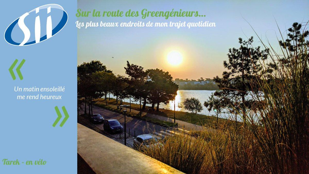 Sous le Pont Clémenceau coule la Loire... Tarek et son vélo éclairent notre début de journée. 🌞🚴♂️ A Nantes, 15 ponts traversent la Loire, dont 3 réservés pour les trains / vélos / piétons. #EMW2020 #SEM2020 #BougeonsAutrement #MobilityWeek #ODD13 https://t.co/yIfWF9doDN