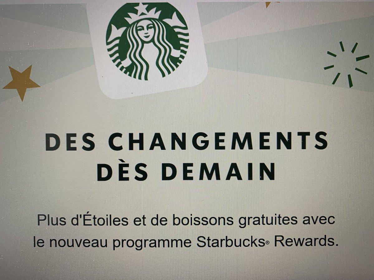 Un très beau mensonge de @StarbucksFrance qui change le programme de fidélité et annonce «plus de boissons gratuites» alors que c'était une gratuite ttes les 12 achetées auparavant et qu'il en faut 50 désormais pour une gratuite (150 étoiles/3 étoiles par achat). Honte à vous. https://t.co/dLAwMdOYoJ