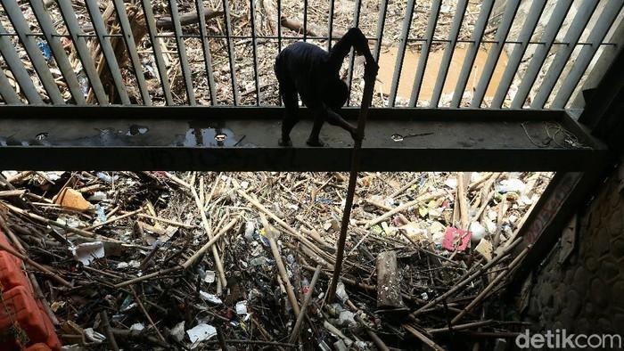 #Foto Sampah yang didominasi batang kayu dan bambu, menumpuk di Pintu Air Manggarai, Jakarta, Selasa (22/09/2020). Sampah ini terbawa arus saat hujan deras kemarin. Berikut penampakannya: #Sampah  Foto: Rengga Sancaya/detikcom https://t.co/RkKZ4cI86j
