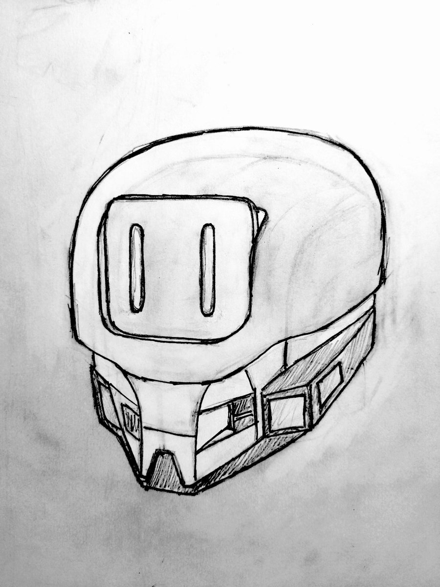 Experimenting with #character's head.  #CharacterDesign🔥 #CharacterArt✏️ #Engineering / #technical #drawings #GameDesign  #VideoGame #GameDoc📝 #Robot #Dev #Art #GameArt #SciFi #SciFiArt #Scitech #Design #IndieGame #GameDev #indiedev #indie #indiegame #inprogress https://t.co/hhevcLGYEU